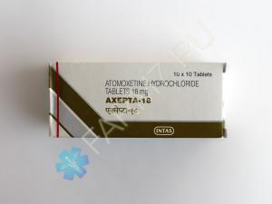 Атомоксетин 18 мг купить (AXEPTA-18)